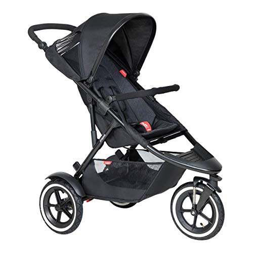 Phil&teds Sport V6 2019+ Kinderwagen, Buggy mit Sitzauflage black