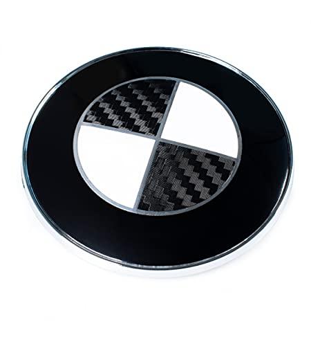 Blackshell® Emblem Aufkleber passend für BMW Logo - 74 tlg. Set für alle Embleme am Auto in 5D Carbon Schwarz
