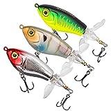 THKFISH señuelos Pesca Kit de Pesca Popper Pesca señuelos de Pesca Black Bass Señuelos de Trucha Lucio 16G 3Piezas