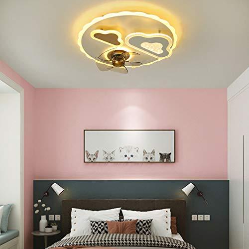 SYXBB-Lampe Dibujos Animados Nubes Diseño 3-Velocidad Ajustable Luz Techo Luz Moderno LED Ventilador de Techo con iluminación Ultra-silencioso Ventilador Invisible Luz de Techo niños Control Remoto
