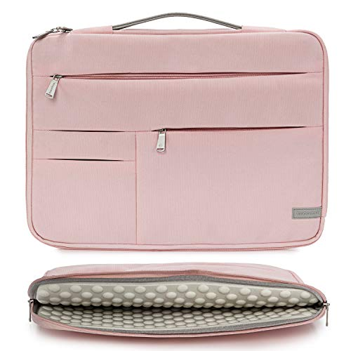 KINGSLONG 15 15.6 Inch Laptop Sleeve Case Bag, Slim Lightweight Laptop Computer Notebook Ultrabooks Carrying Case Handbag Cover for Men Women Fit for Acer Asus Dell Lenovo HP Toshiba ect, Pink