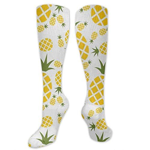 Piña en pictograma calcetines de compresión para mujeres y hombres – los mejores calcetines de viaje y vuelo