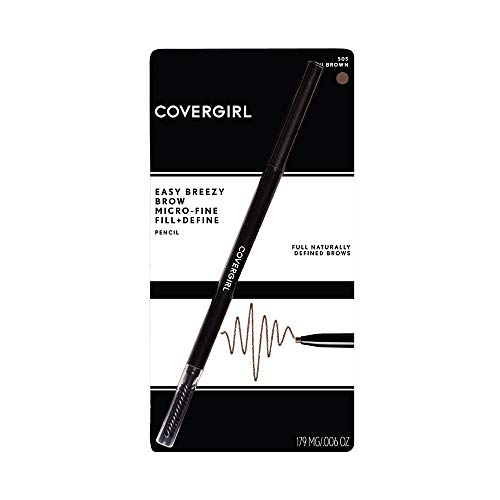 COVERGIRL Easy Breezy Brow Micro-fine & Define Pencil (packaging may vary) , rich brown
