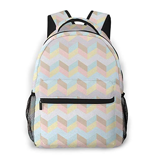 Travel Backpacks for Men Women, College School Laptop Bookbags Business Computer Bag Camping Daypack Pastel 593