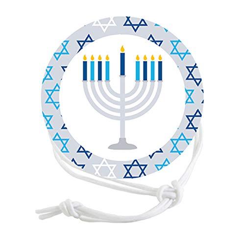 Napkin Knots Hanukkah Napkin Ring Decoration - Star Border (Pack of 10)