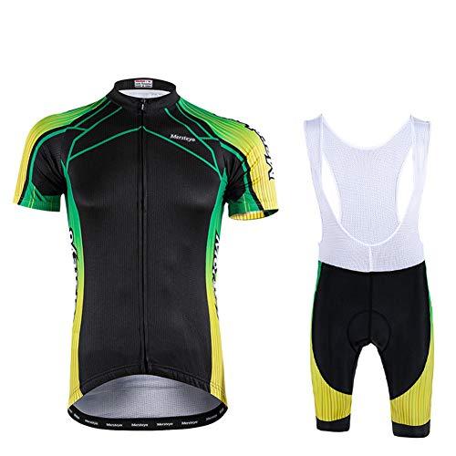 Ydshyth Fietsen Jersey Gel Bike Bibs korte broek pak MTB Mens Fietsen Culotte Kleding Korte mouw Recreatie Shirt Stretch Outdoors Mode Ademend
