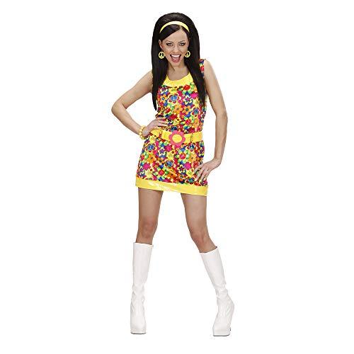 WIDMANN Widman - Disfraz de hippie años 60s para mujer, talla S (S/73261)