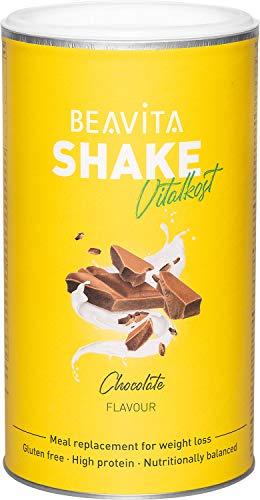 BEAVITA Vitalkost Schokolade - Diät Shake 500 g - Mahlzeitenersatz reicht für 9 Shakes - Kalorien sparen mit Schoko Flavour - Eiweiß-Diät Shake mit nur 209 kcal pro Shake -...