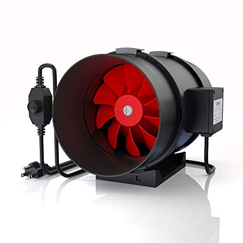 TOPHORT 8 Inch Inline Duct Fan 700 CFM Blower Fan with Variable Speed Controller HVAC Blower Ventilation