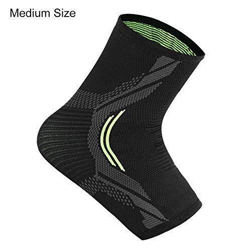 Alomejor 1 PC Ankle Brace Ankle Compression Socken und Ärmel für Sport Basketball Fitness Reiten(M)