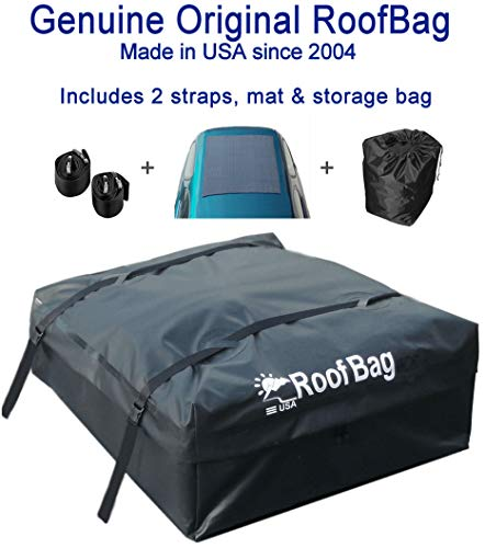 RoofBag Rooftop Cargo Carrier Bundle | Made in USA...
