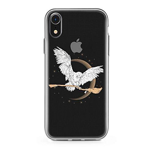 Finoo, hoes voor iPhone XR, hoes voor mobiele telefoon met motief en optimale bescherming, tas, case, hardcase, cover, beschermhoes, Harry Potter, uil en bezem