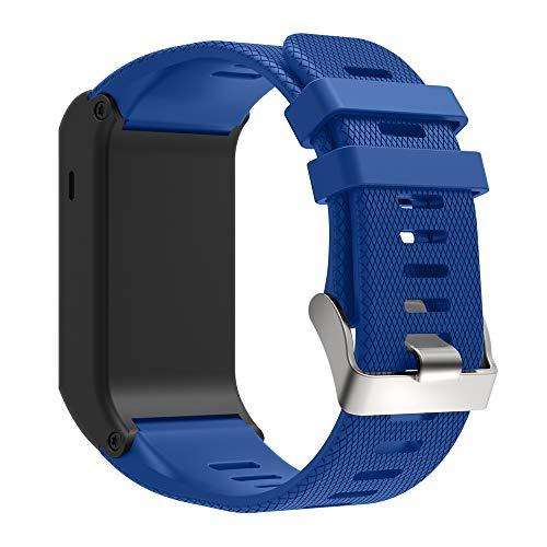 KINOEHOO Correas para relojes Compatible con Garmin Vivoactive HR Pulseras de repuesto.Correas para relojesde siliCompatible cona.