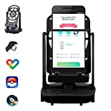 Phone Swing Step Counter Pedometer Compatible with Pokemon Go Poke Ball Plus Cellphone Accessories with USB Cable High Silent Version for Walking (Support 2 Phones Under 7.2 Inch)