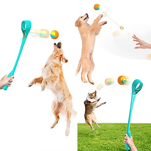 Juguete De Lanzador De Bolas De Perro, Chase Jump Interactive, con Bola...