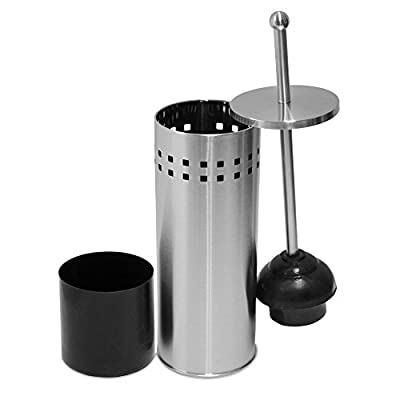 Oasis Collection Stainless Steel Toilet Plunger & Holder