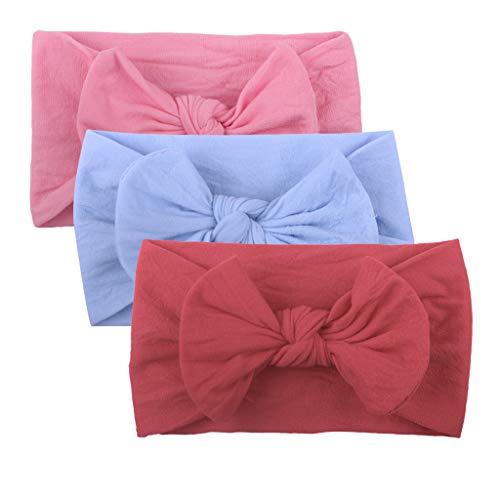 Huhu833 Baby Stirnbänder, Cute Baby Kleinkind Infant Circle Stirnband Stretch Haarband Headwear (3 Pcs B)