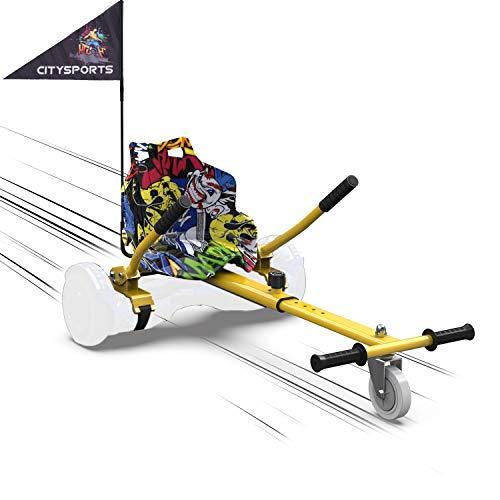 MARKBOARD Asiento Kart, Hoverkart para Patinete Eléctrico, Compatible con Hoverboard de 6.5, 8.5 y 10 Pulgadas (Hip)