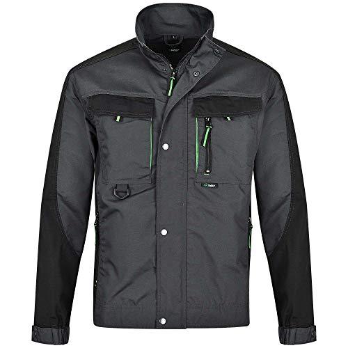 BWOLF Brave - Giacca da lavoro uomo abbigliamento lavoro uomo con tasche multiple grigio/verde. XL