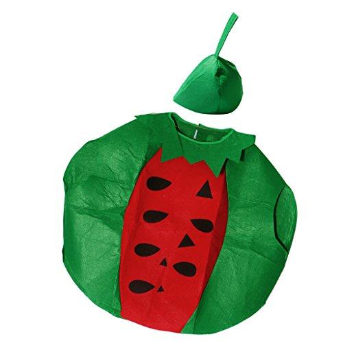 Baoblaze Vestido de Frutas Unisex para Niños Adultos para Vestidos de Fiesta en Disfraz de Halloween - Sandía