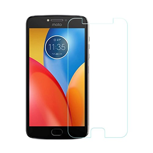 Karirap™ ultra clear, 9H hardness,2.5D Curved, shatterproof, anti explosion, scratch free, bubble free, oil resistant, reduced fingerprint tempered glass screen protector glass for Motorola Moto E4 Plus