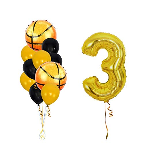 JSJJAWS Globos Decoracione 5pcs Baloncesto Globos de la Hoja de Deportes temáticos Globos Decorativas for el Partido Boys'Birthday Juguetes for niños (Color : 11 pcs-3)