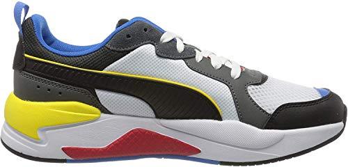 PUMA X-Ray, Sneakers Unisex-Adulto, Bianco White Black/Dark Shadow/High Risk Red/Palace Blue, 44 EU