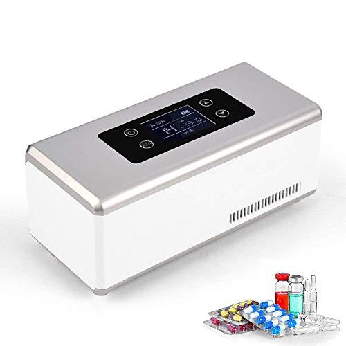 HPDOH Portable Insulin Cooler, Mini Car Refrigerator, Medicine Refrigerator, Medical Mini Refrigerator, Suitable For Car/Travel/Aircraft (235 * 105 * 110mm)