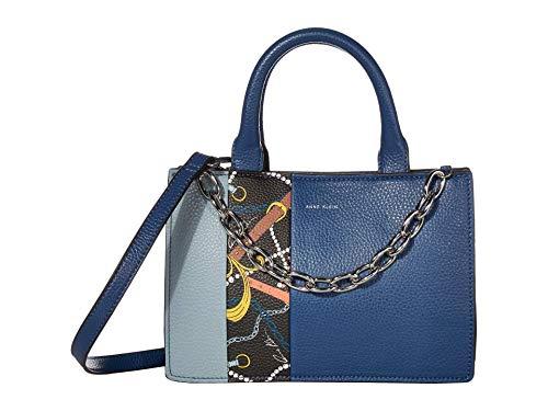 Anne Klein Accordian Satchel Blue Multi One Size