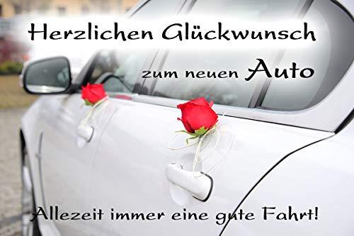 Yabue Neues Auto Foto-Karte Grußkarte Glückwunsch Gute Fahrt 16x11cm