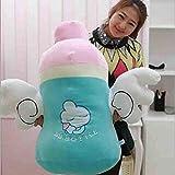 Botella chica almohada de peluche de juguete grande de la muñeca regalo de cumpleaños del muchacho Ala Cuidado Alimentación Dispositivo de alimentación con biberón de juguete de felpa (Color: 35 cm) (