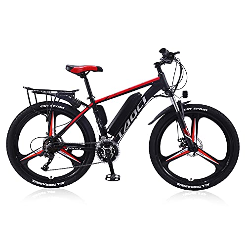 """Hyuhome Electric Bikes for Adult, Magnesium Alloy Ebikes Bicycles All Terrain,26"""" 36V 250W 13Ah Delivery in 25-35 days Mountain Ebike for Mens (Red, 250W13A80KM)"""