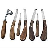 HOOF Knife Set 7 HOOF Knives Wide & Narrow Blade Double...