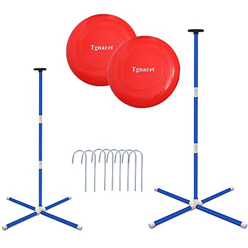 Tgnazet Outdoor Games for Family, Beach Game or Party Games or Lawn Games, Flying Disc Yard Games for Adults and Kids