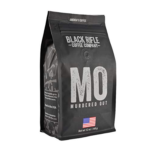 Murdered Out Extra Dark Roast (Italian) Ground Coffee by Black Rifle Coffee Company | 12 oz Bag of Premium Gourmet Specialty Coffee | Perfect Coffee Lovers Gift