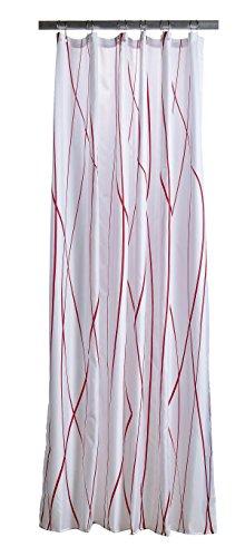 Zone Denmark 381112Polyester Rot, Weiß Duschvorhang Vorhang Dusche Bedruckt, Polyester, rot, weiß, 2m, 1800mm