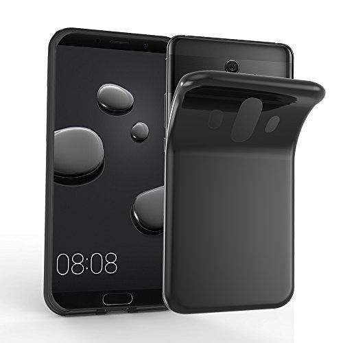 Preisvergleich Produktbild Cadorabo Hülle für Huawei Mate 10 - Hülle in SCHWARZ Handyhülle aus TPU Silikon im Ultra Slim 'AIR' Design - Silikonhülle Schutzhülle Soft Back Cover Case Bumper