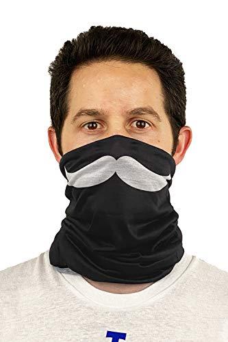 Black and White Mustache Neck Warmer