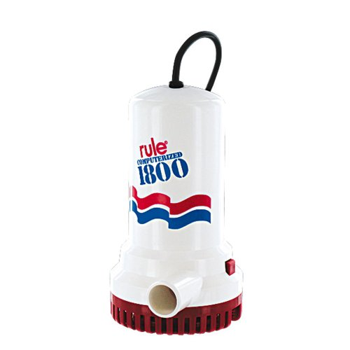 Rule A53D 1800 GPH Submersible Sump / Utility Pump, 8 Foot Cord, Non-Automatic, 110 Volt AC