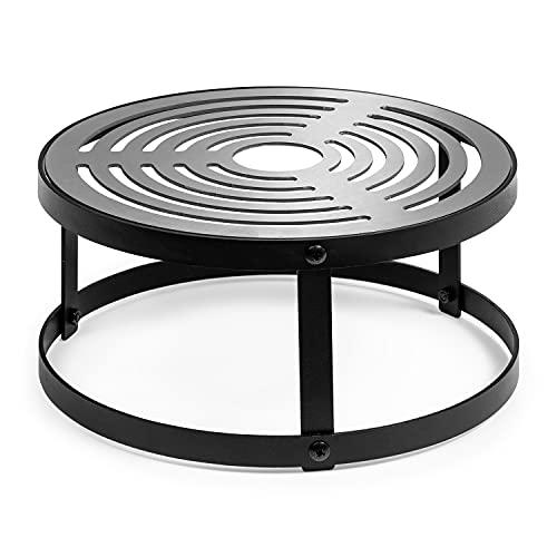 blumfeldt Firebowl Savage - Grill para brasero, Accesorio para brasero Savage, Resiste a la Intemperie, Diámetro 30 cm, Grosor de 5 mm, Estructura de Acero Revestido, Negro