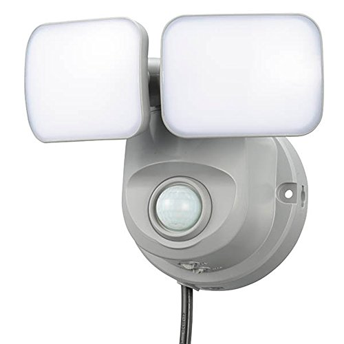 センサーライト 屋外 屋内 2灯式 LEDセンサーライト 人感・明暗センサー付き 自動点灯 コンセント 800lm 防水コード使用 室内 廊下 階段 玄関 照明 防犯対策