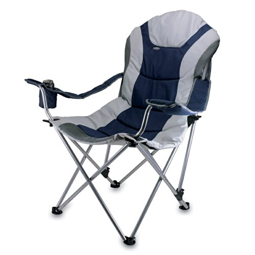 ONIVA - a Picnic Time Brand Portable Reclining Camp Chair, Navy (Renewed)