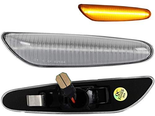 Do!LED LED Seitenblinker Klarglas mit E-Prüfzeichen kompatibel mit E36 E46 E60 E61 E81 E82 E87 E88 E90 E91 E92 E93 (Artikelbeschreibung beachten)