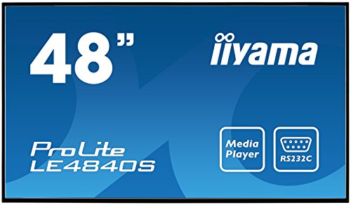 "iiyama ProLite LE4840S-B1 121cm (48"") Info-Display SVA Panel Full-HD USB Mediaplayer (VGA, DVI, HDMI, 8ms, 12Std/7) Schwarz"