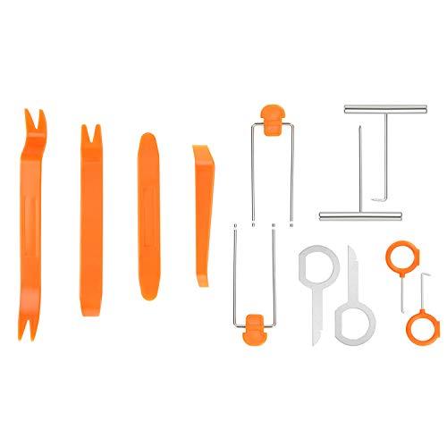 flintronic Herramientas Desmontar, 12PCS Plástico Desmontaje/Eliminación Kit para Desmontar el Salpicadero Radio, Audio Vehículo Interior Recubrimiento Desmontaje
