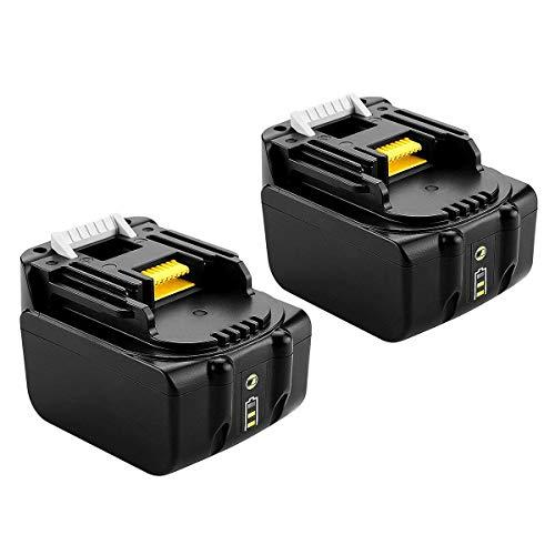 [2 pezzi] 2 X BL1440B BL1430B per Makita 14.4 Volt batteria 4.0Ah BL1440 B BL1430B BL1430 BL1415 194066-1 194065-3 Li-ion LXT 4000 mAh con indicatore
