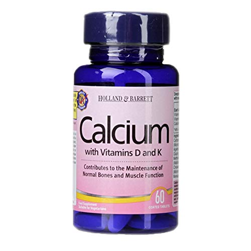 Holland & Barrett Calcium with Vitamins D and K - 60 Tablets