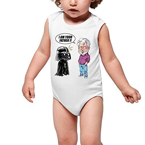 Body bébé Blanc Star Wars parodique Dark Vador et George Lucas - I am Your Father : Un père Pas si Inconnu Que ça. : (Version Originale) (Parodie Star Wars)