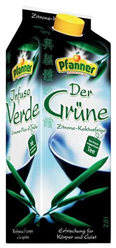 Pfanner Der Grüne Zitrone-Kaktusfeige, Grüner Tee, Tetra - 2L - 2x