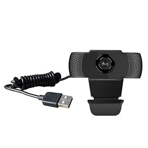 ASNX Cámara Web 1080P con Micrófono, Computadora Portátil PC Webcam de Escritorio USB 2.0 Cámara Web de Alta Definición Estudios, Conferencias, Grabación, Plug and Play, FaceTime, Hangouts